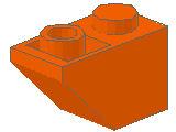 %3665 逆スロープ45度[オレンジ]2x1(斜面:粒小)