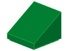 %54200 スロープ33度[緑]1x1x2/3(斜面:粒無)