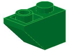 %3665 逆スロープ45度[緑]2x1(斜面:粒小)