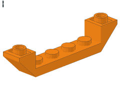 %52501 逆スロープ45度[オレンジ]6x1(両側傾斜、斜面:粒小)