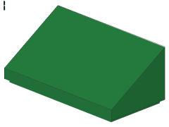 %85984 スロープ33度[緑]1x2x2/3(斜面:粒無)