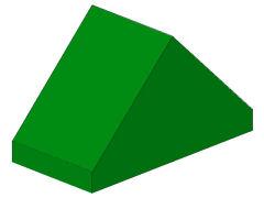 %3044 スロープ45度[緑]2x1(両側傾斜、斜面:粒大)