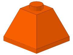 %3045 スロープ45度[オレンジ]2x2(隣り合う2方向傾斜、斜面:粒大)