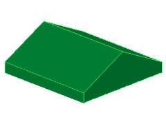 %3300 スロープ33度[緑]2x2(両側傾斜、斜面:粒大)