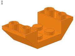 %4871 逆スロープ45度[オレンジ]4x2(両側傾斜、斜面:粒大)