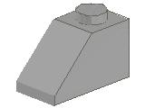 %3040 スロープ45度[旧灰]2x1(斜面:粒大)