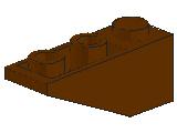 %4287 逆スロープ33度[旧茶]3x1(斜面:粒大)