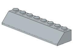 %4445 スロープ45度[新灰]2x8(斜面:粒小)