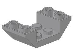 %4871 逆スロープ45度[新灰]4x2(両側傾斜、斜面:粒大)