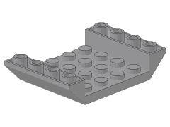 %30283 逆スロープ45度[新灰]6x4(両側傾斜、斜面:粒大)