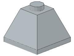 %3045 スロープ45度[新灰]2x2(隣り合う2方向傾斜、斜面:粒小)