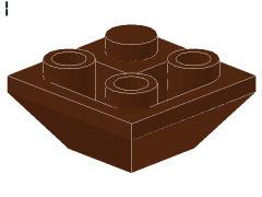 %3676 逆スロープ45度[新茶]2x2(隣合う2方向傾斜、斜面:粒大)