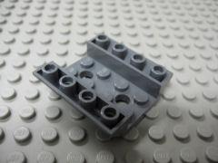%72454 逆スロープ45度[新濃灰]4x4(両側傾斜、穴開き、斜面:粒大)