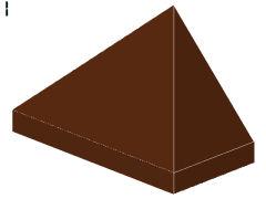 %3048 スロープ45度[新茶]1x2(3方向傾斜、斜面:粒小)