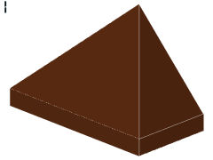 %3048 スロープ45度[新茶]1x2(3方向傾斜、斜面:粒大)