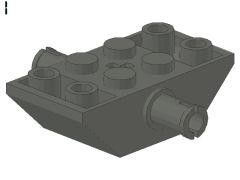 %30390 逆スロープ45度[新濃灰]4x2(両側傾斜,ペグx2、斜面:粒大)