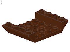 %60219 逆スロープ45度[新茶]6x4(両側傾斜、穴開き、斜面:粒大)