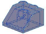 %3039 スロープ45度[透明青]2x2(斜面:粒大)