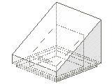 %54200 スロープ33度[透明]1x1x2/3(斜面:粒無)