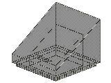 %54200 スロープ33度[透明濃灰]1x1x2/3(斜面:粒無)