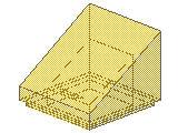 %54200 スロープ33度[透明黄]1x1x2/3(斜面:粒無)