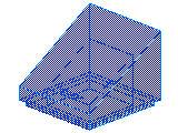 %54200 スロープ33度[透明青]1x1x2/3(斜面:粒無)