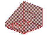 %54200 スロープ33度[透明赤]1x1x2/3(斜面:粒無)