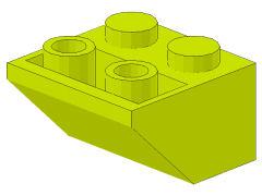 %3660 逆スロープ45度[黄緑]2x2(斜面:粒大)