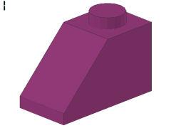 %3040 スロープ45度[紅紫]2x1(斜面:粒大)