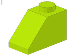 %3040 スロープ45度[黄緑]2x1(斜面:粒大)