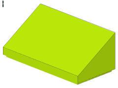%85984 スロープ33度[黄緑]1x2x2/3(斜面:粒無)