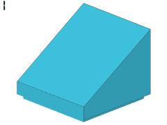 %54200 スロープ33度[アズール青]1x1x2/3(斜面:粒無)
