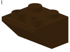 %3660 逆スロープ45度[濃茶]2x2(斜面:粒大)