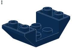 %4871 逆スロープ45度[紺]4x2(両側傾斜、斜面:粒大)