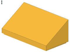 %85984 スロープ33度[パステルオレンジ]1x2x2/3(斜面:粒無)