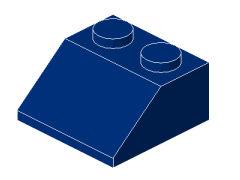 %3039 スロープ45度[紺]2x2(斜面:粒大)