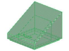 %54200 スロープ45度[透明緑]1x1x2/3(斜面:粒無)
