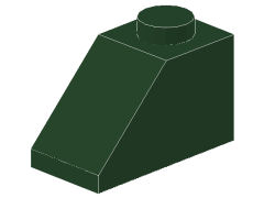 %3040 スロープ45度[濃緑]2x1(斜面:粒大)