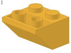 %3660 逆スロープ45度[パステルオレンジ]2x2(斜面:粒大)