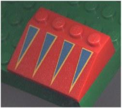%3297 スロープ33度[赤]3x4(青三角、斜面:粒大)
