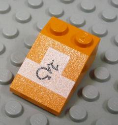 %3298 スロープ33度[オレンジ]3x2(ポッドレーサー、斜面:粒大)