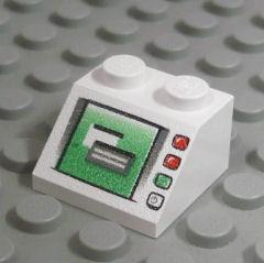 %3039 スロープ45度[白]2x2(PCモニター、斜面:粒大)