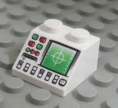 %3039 スロープ45度[白]2x2(レーダー機器、斜面:粒大)