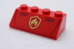 %3037 スロープ45度[赤]2x4(Fire Logo、斜面:粒大)