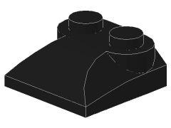 %47457 カーブスロープ[黒]2x2x2/3