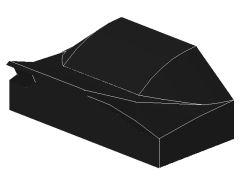 %47458 カーブスロープ[黒]1x2x2/3(ポッチ無)