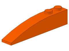 %42022 カーブスロープ[オレンジ]6x1