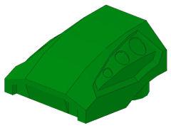 %44675 カーブスロープ[緑]2x2x1(ディンプル)