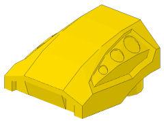 %44675 カーブスロープ[黄]2x2x1(ディンプル)