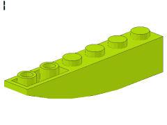 %42023 逆カーブスロープ[黄緑]6x1